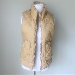 Peach Love California quilted vest Small